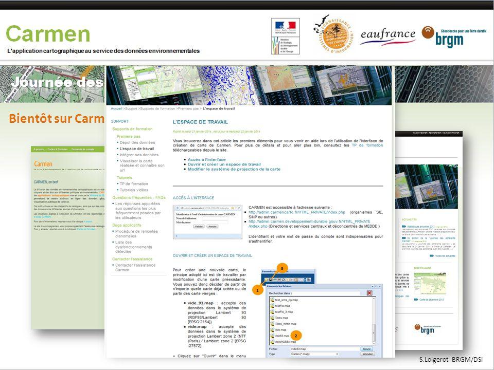 Bientôt sur Carmen.naturefrance.fr S.Loigerot BRGM/DSI