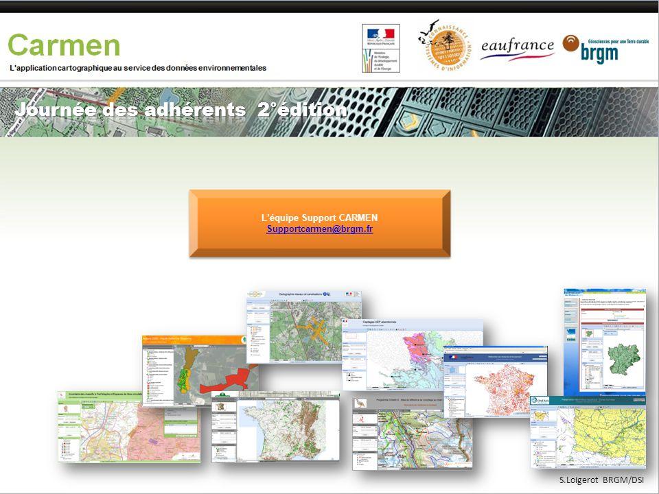 L'équipe Support CARMEN Supportcarmen@brgm.fr L'équipe Support CARMEN Supportcarmen@brgm.fr S.Loigerot BRGM/DSI