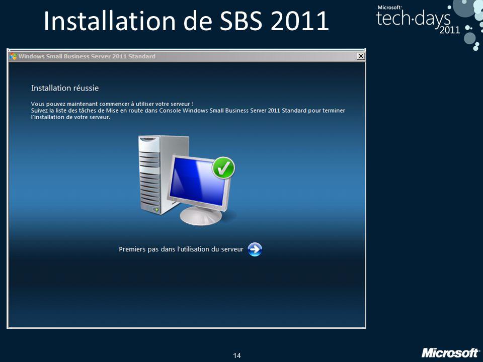 14 Installation de SBS 2011