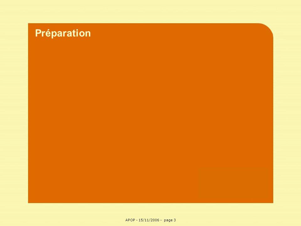 APOP3 Préparation APOP - 15/11/2006 - page 3