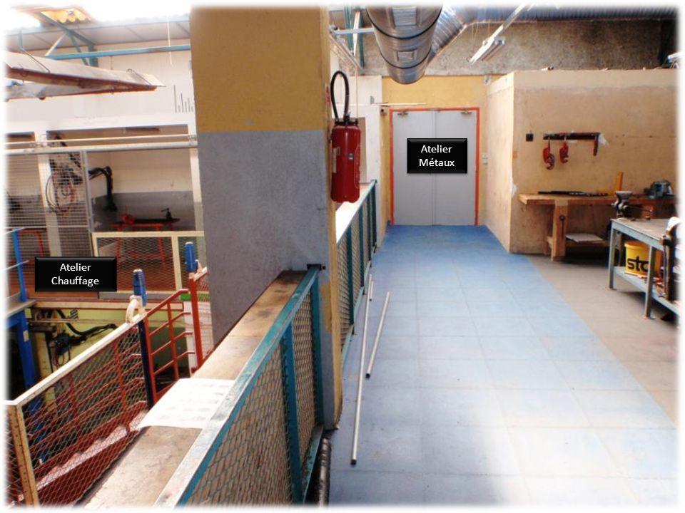 Atelier Chauffage Atelier Chauffage Cellule énergies renouvelables Vers atelier de plomberie Vers atelier de plomberie