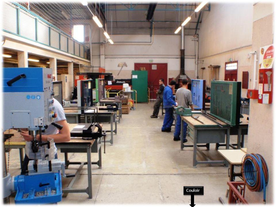 Vers les ateliers Terrain de sport Terrain de sport Atelier de Maçonnerie Atelier de Maçonnerie
