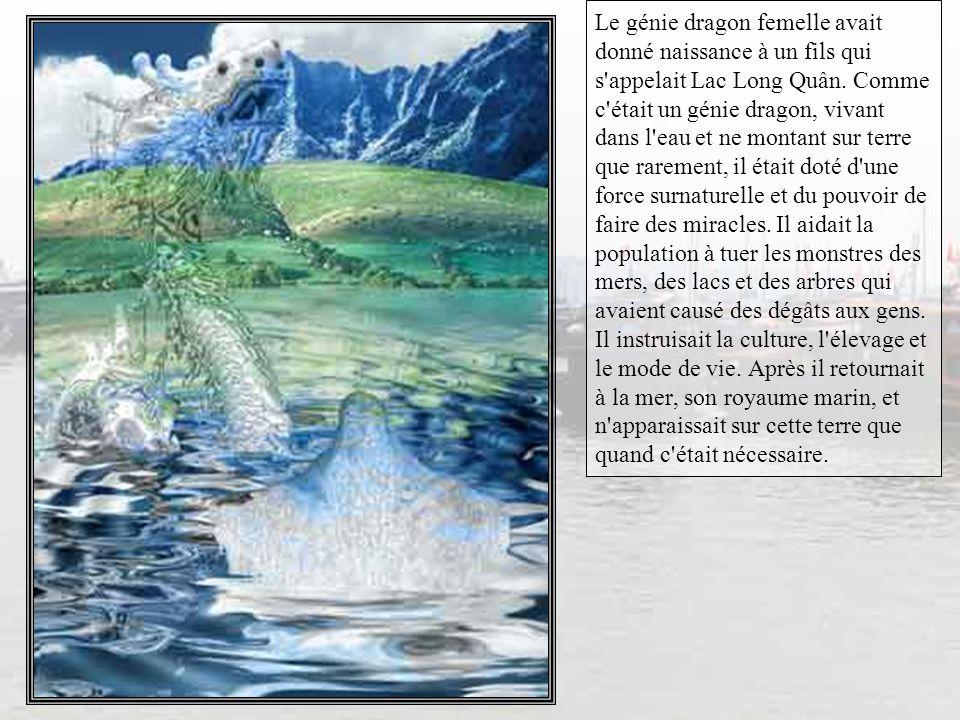 Et bien voilà... la toute première légende, celle de Lac Long Quân et de Au Co fait remonter les origines des vietnamiens dans la nuit des temps. Donc