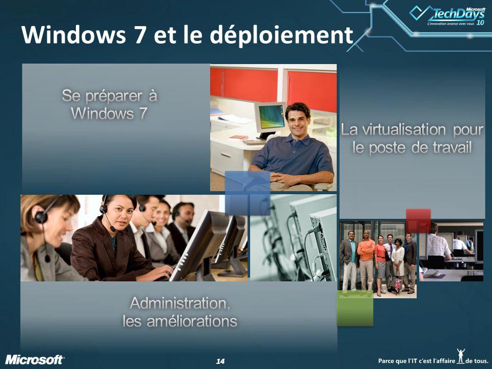 14 Windows 7 et le déploiement