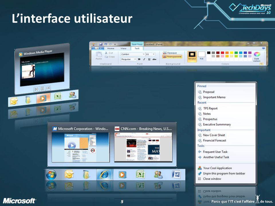 55 L'interface utilisateur