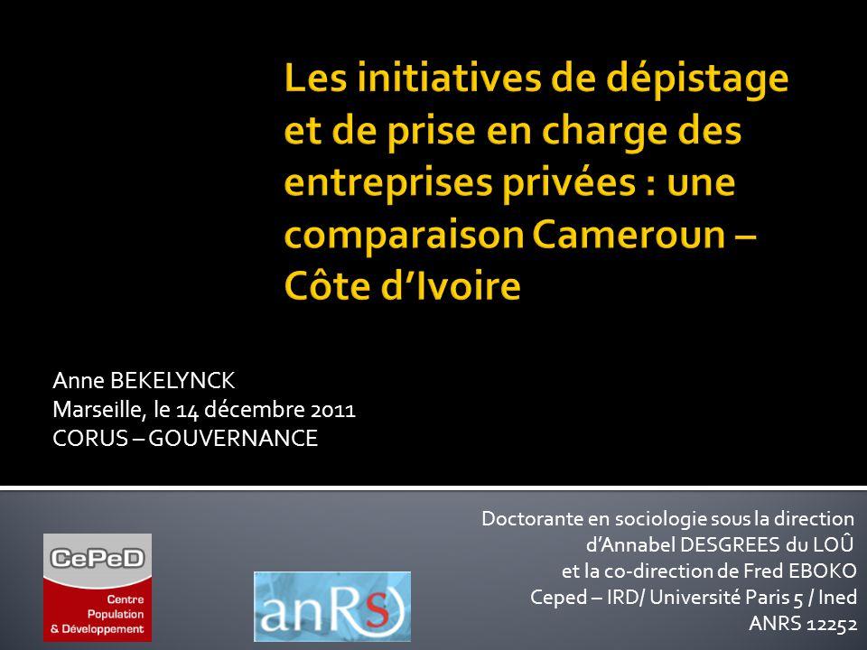 Doctorante en sociologie sous la direction d'Annabel DESGREES du LOÛ et la co-direction de Fred EBOKO Ceped – IRD/ Université Paris 5 / Ined ANRS 1225