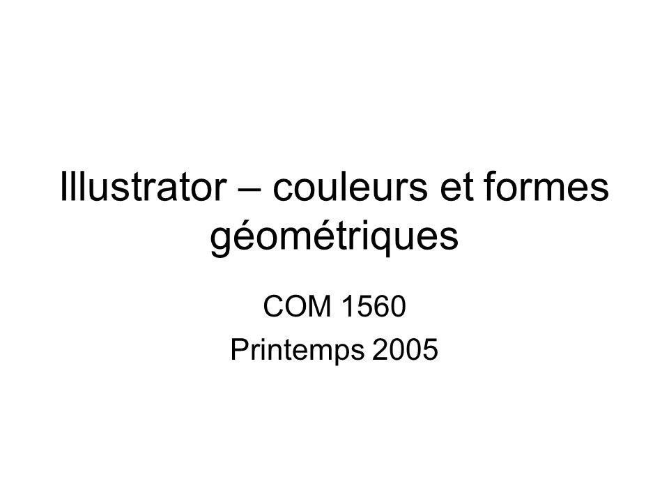 Illustrator – couleurs et formes géométriques COM 1560 Printemps 2005