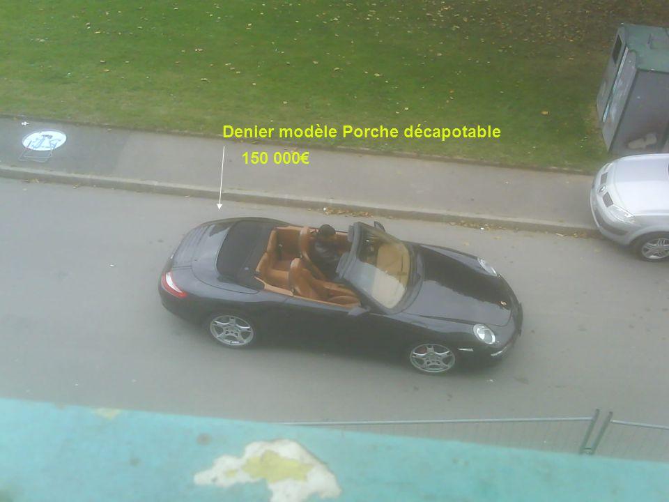 Denier modèle Porche décapotable 150 000€