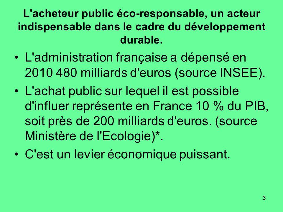 3 L acheteur public éco-responsable, un acteur indispensable dans le cadre du développement durable.