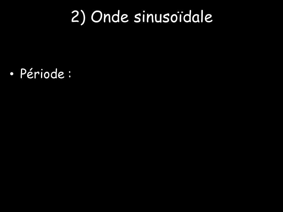 2) Onde sinusoïdale • Période :