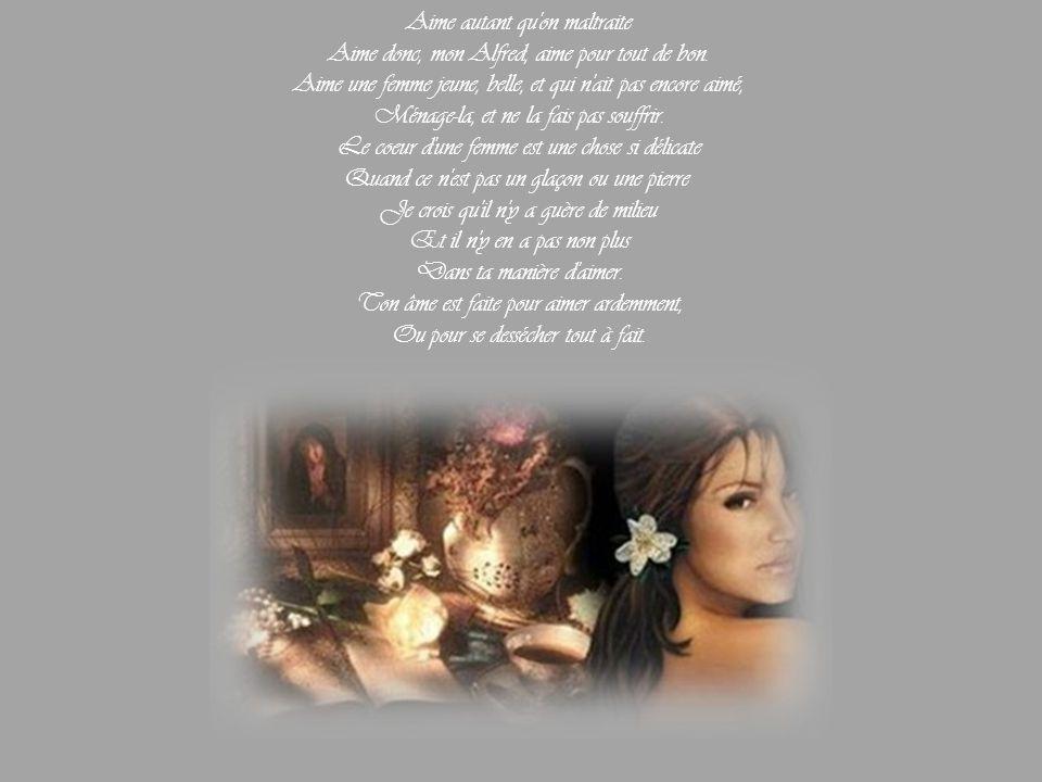 Lettre de George Sand à Alfred de Musset Venise, 12 mai 1834 Non, mon enfant chéri Ces trois lettres ne sont pas Le dernier serment de main de l'amant