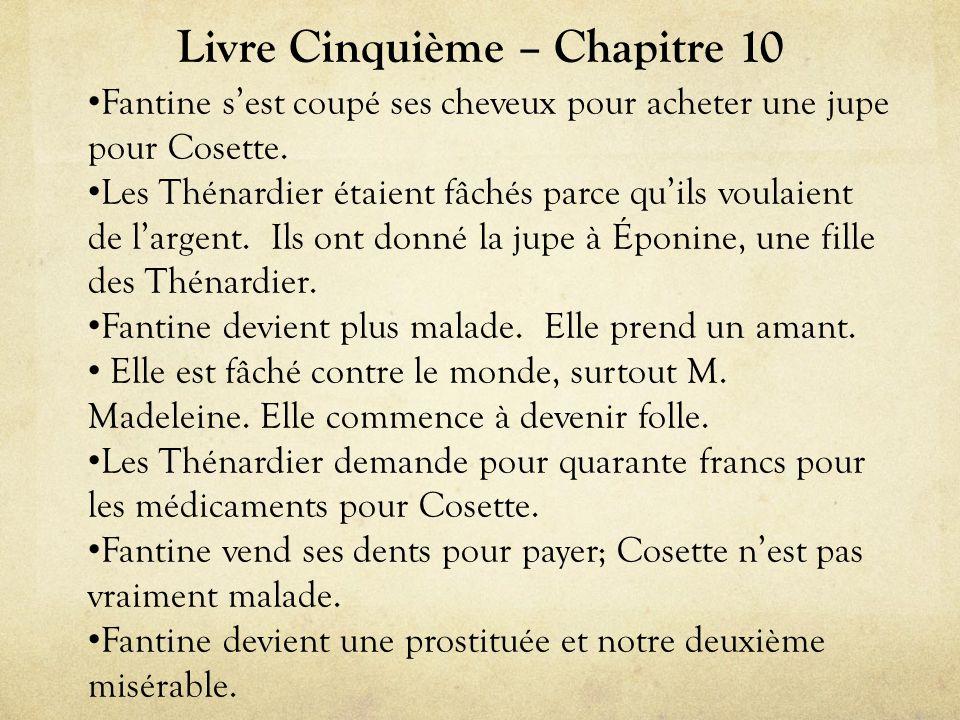 Livre Cinquième – Chapitre 10 • Fantine s'est coupé ses cheveux pour acheter une jupe pour Cosette.