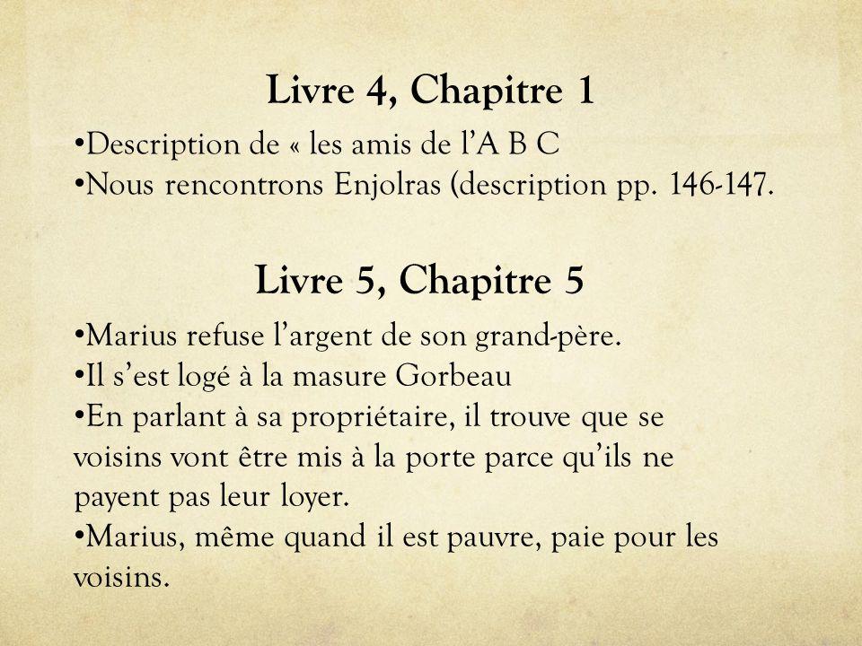 Livre 4, Chapitre 1 • Description de « les amis de l'A B C • Nous rencontrons Enjolras (description pp.