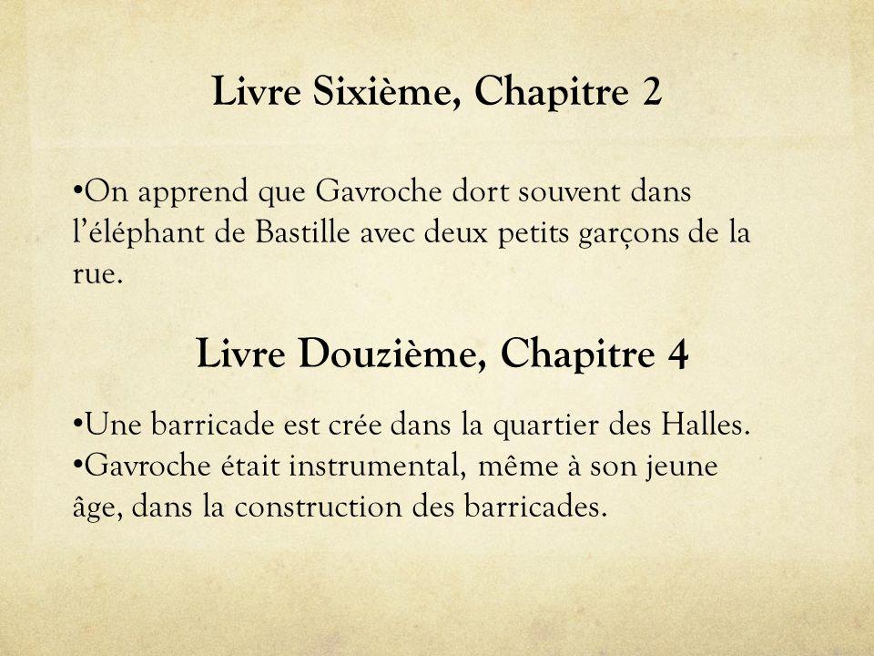 Livre Sixième, Chapitre 2 • On apprend que Gavroche dort souvent dans l'éléphant de Bastille avec deux petits garçons de la rue.
