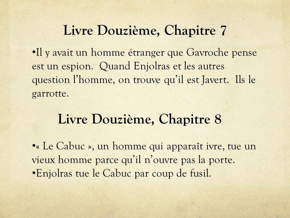 Livre Douzième, Chapitre 7 • Il y avait un homme étranger que Gavroche pense est un espion.