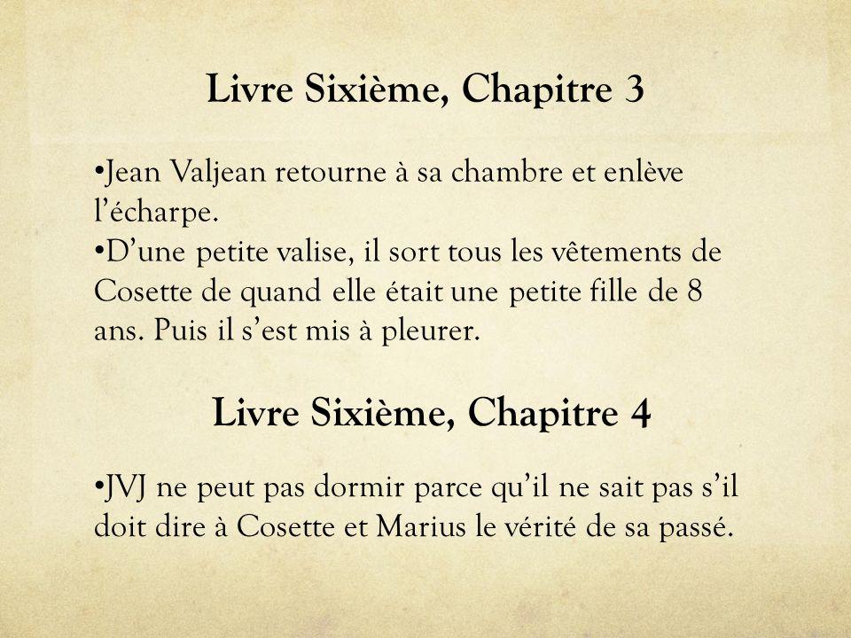 Livre Sixième, Chapitre 3 • Jean Valjean retourne à sa chambre et enlève l'écharpe.