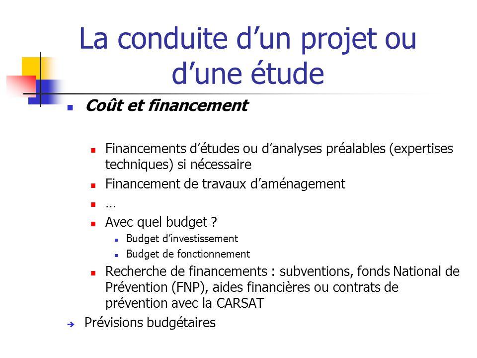 La conduite d'un projet ou d'une étude  Délais de mise en œuvre  Dans quels délais .