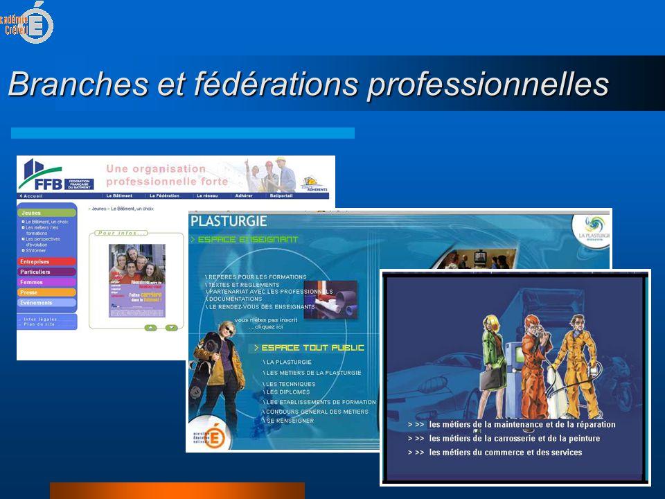 Branches et fédérations professionnelles
