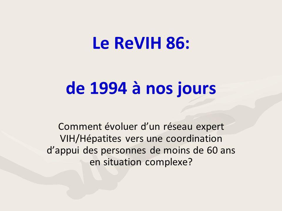 Le ReVIH 86: de 1994 à nos jours Comment évoluer d'un réseau expert VIH/Hépatites vers une coordination d'appui des personnes de moins de 60 ans en si
