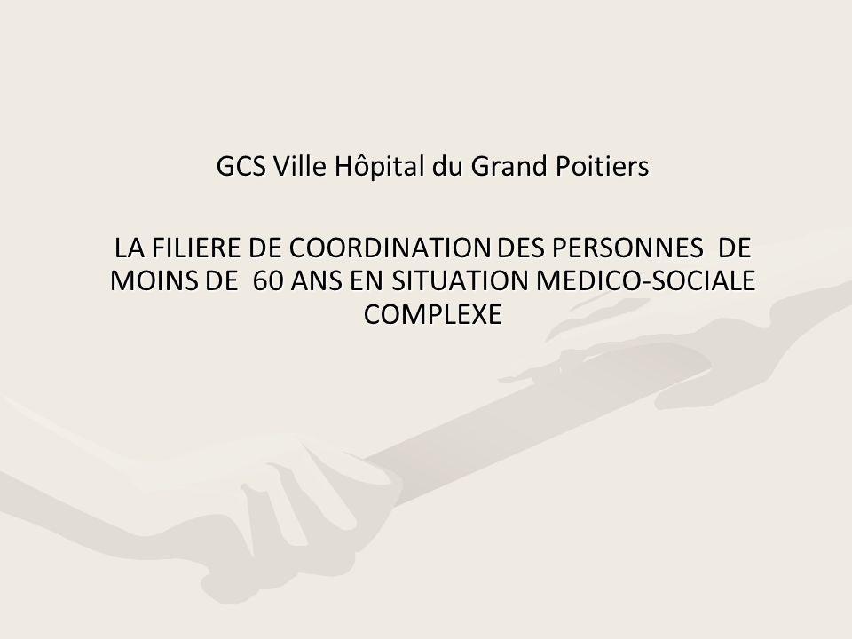 GCS Ville Hôpital du Grand Poitiers LA FILIERE DE COORDINATION DES PERSONNES DE MOINS DE 60 ANS EN SITUATION MEDICO-SOCIALE COMPLEXE