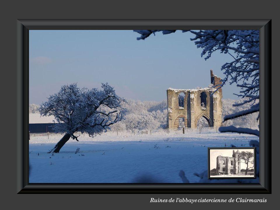 au centre du village, les vestiges de l'abbaye de CLAIRMARAIS Ruines de l'abbaye cistercienne de Clairmarais