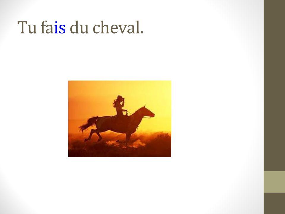Tu fais du cheval.