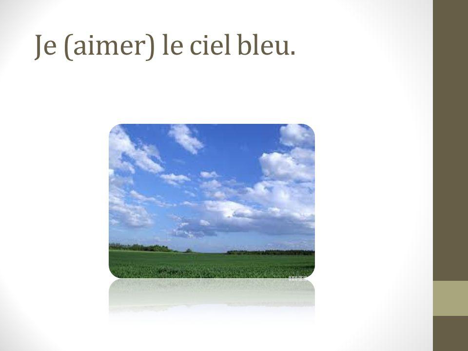 J'aime le ciel bleu.