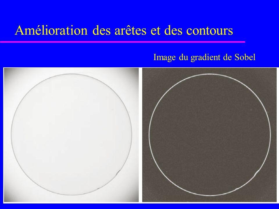 Figure 4.29 [rf. GONZALEZ, p. 201] (d) idem à c [sauf pour les pixels dont les * 2 gradients  25* qui ont été mis à 0 - image binaire] (c) image orig