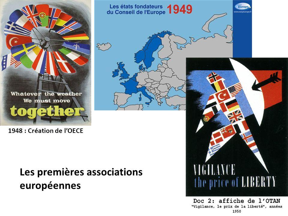 1948 : Création de l'OECE Les premières associations européennes