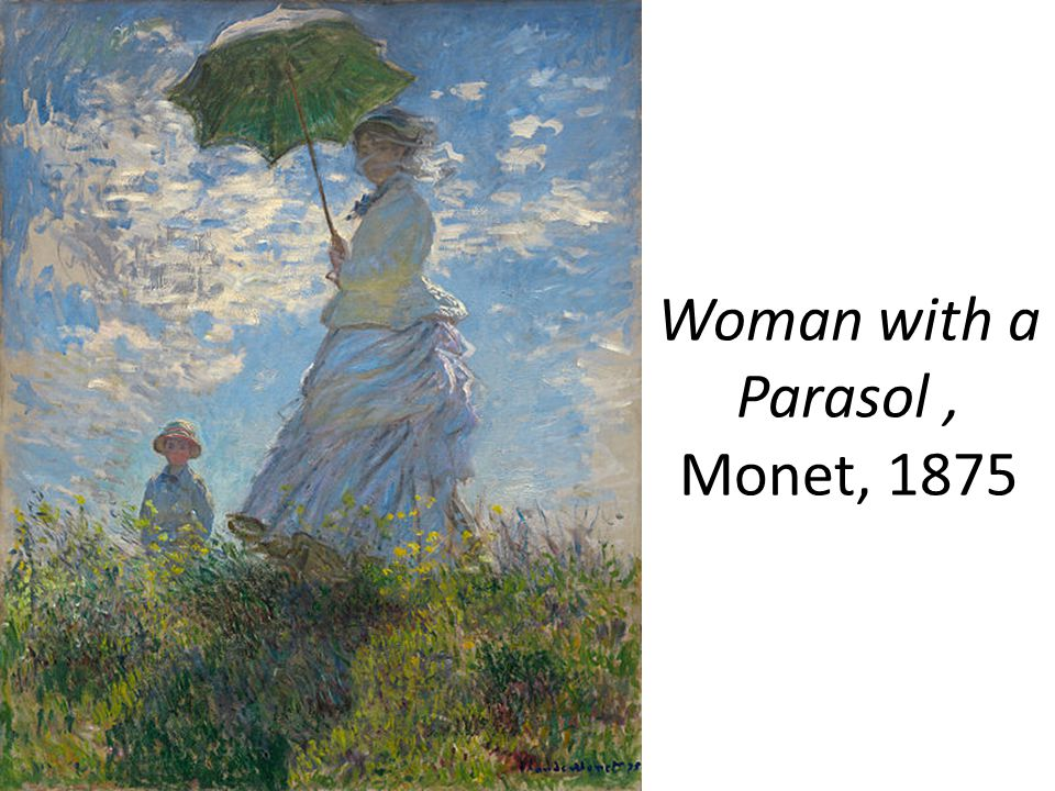Woman with a Parasol, Monet, 1875