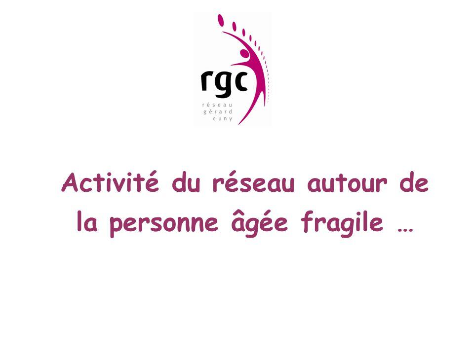 Activité du réseau autour de la personne âgée fragile …