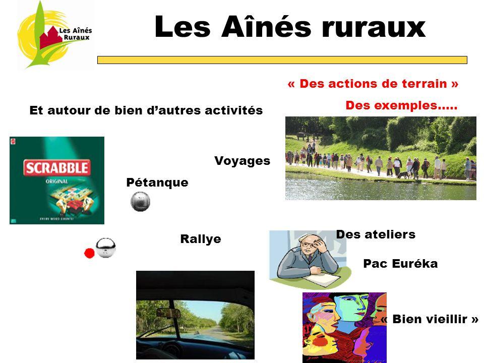 Les Aînés ruraux « Des actions de terrain » Des exemples…..