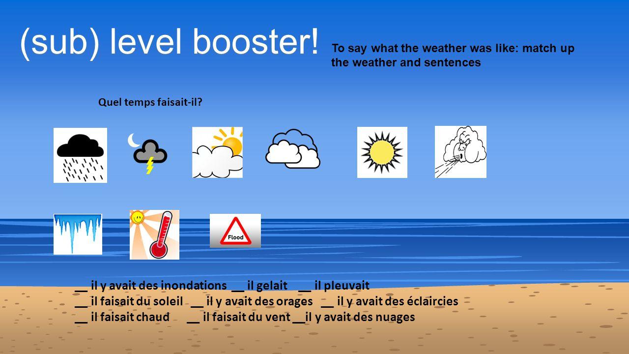 (sub) level booster.