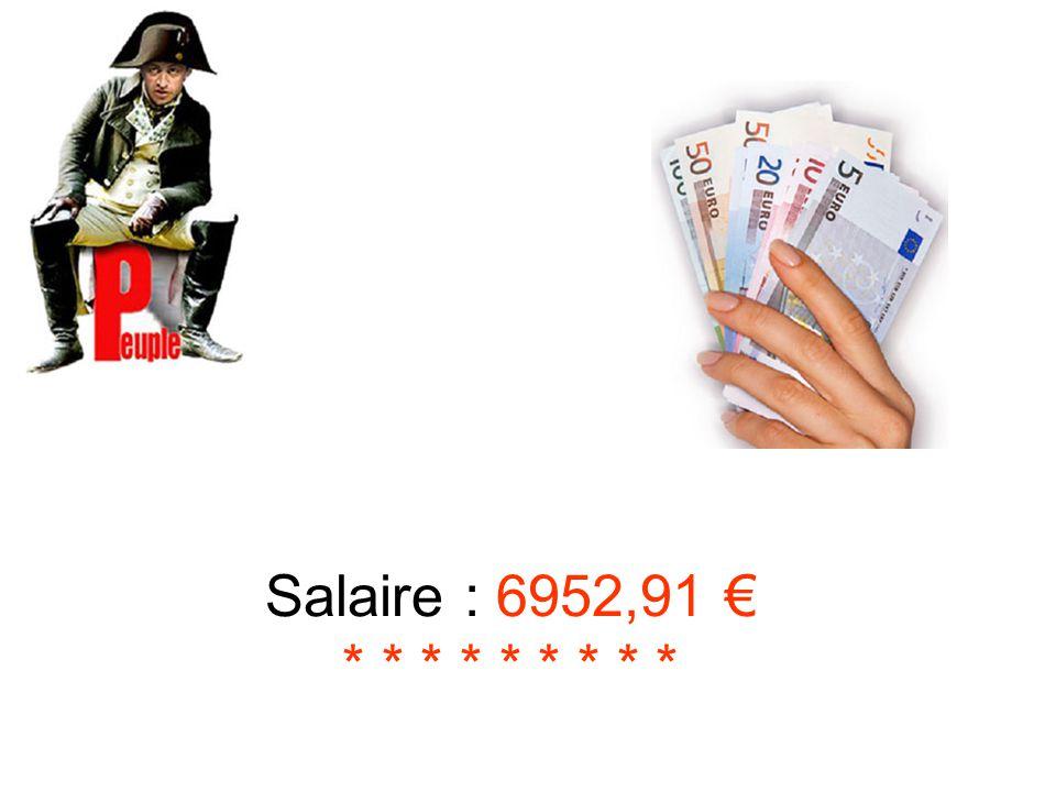 Salaire : 6952,91 € * * * * * * * * *