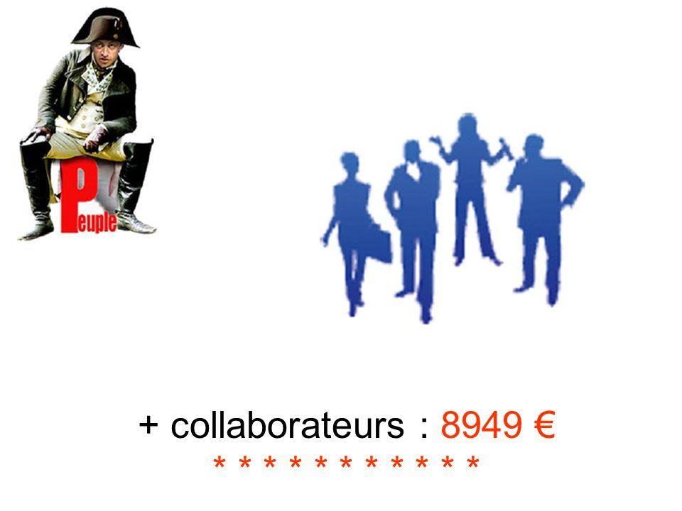 + collaborateurs : 8949 € * * * * * * * * * * *