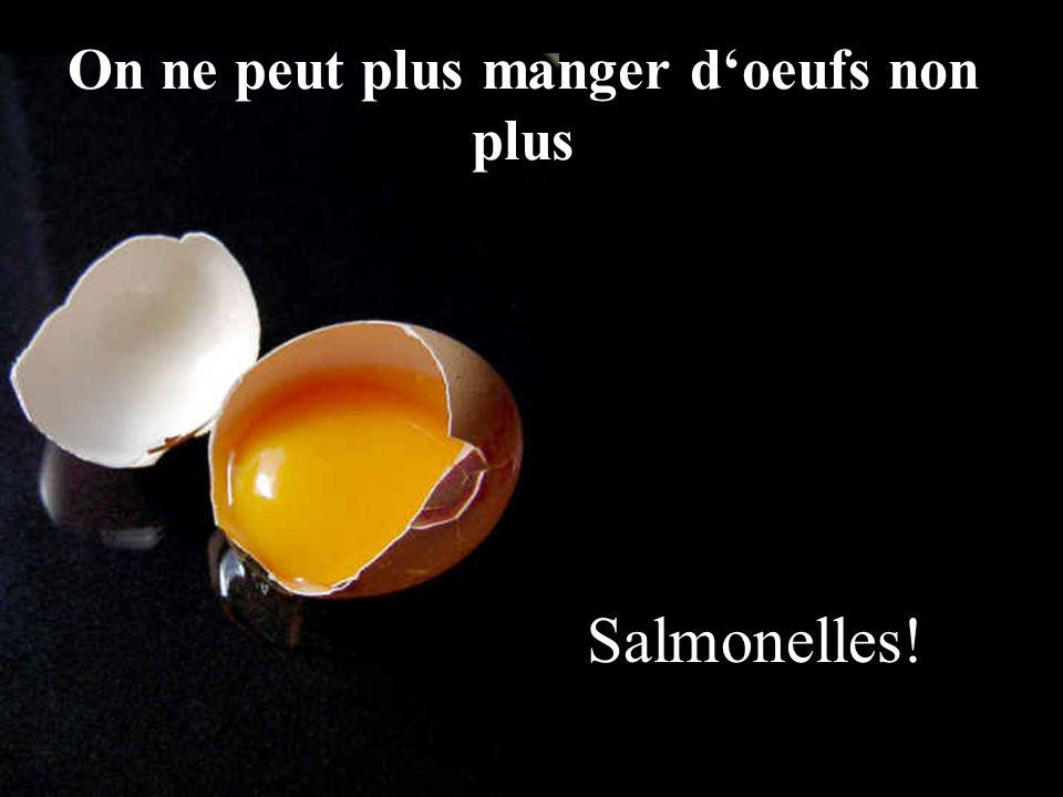 Salmonelles! On ne peut plus manger d'oeufs non plus