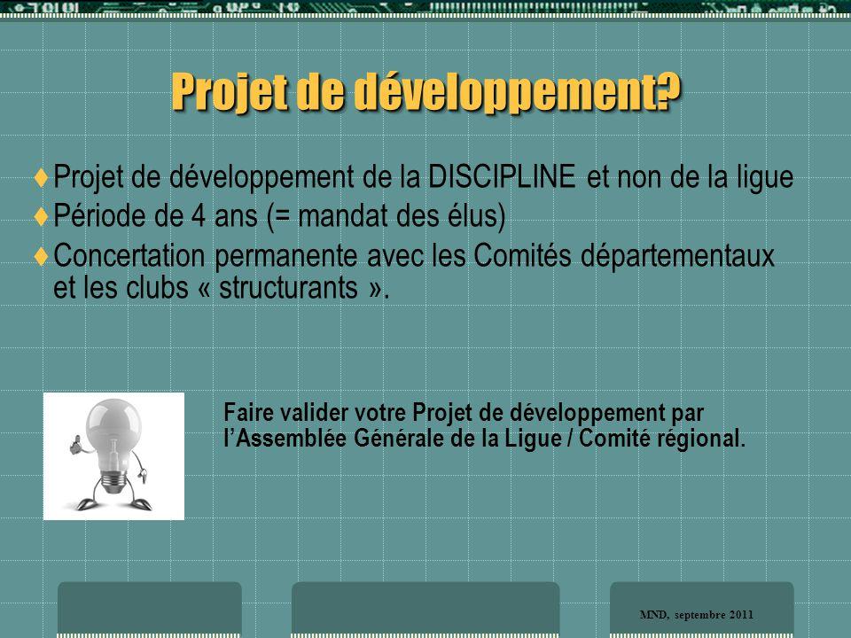 Projet de développement.