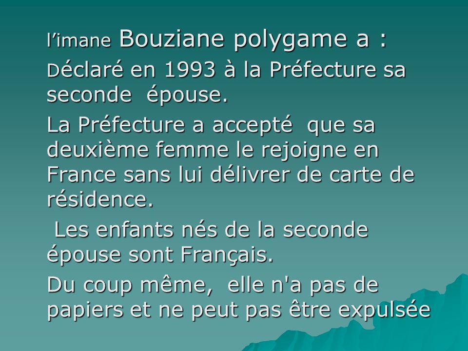 Monsieur l'imam Bouziane ne travaille pas étant un homme sage du culte musulman A lire jusqu'à la fin, ça vaut le coup.