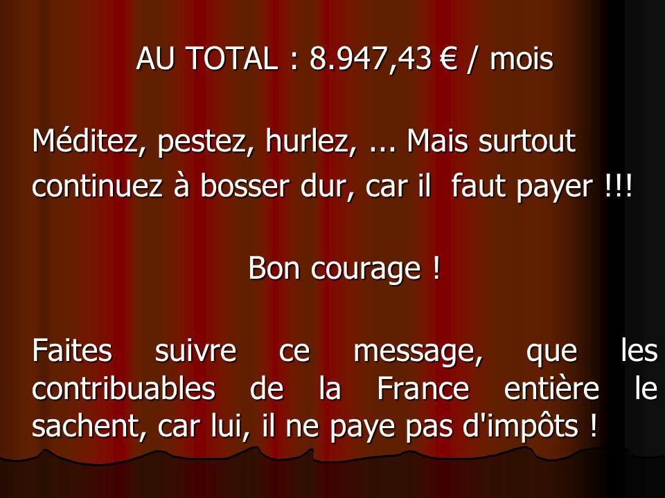 Mr et Mme Bouziane n°1 : Avec leurs 8 enfants touchent 978,08 € d'allocations familiales tous les mois + 2 allocations pour jeune enfant 323,32 € + al