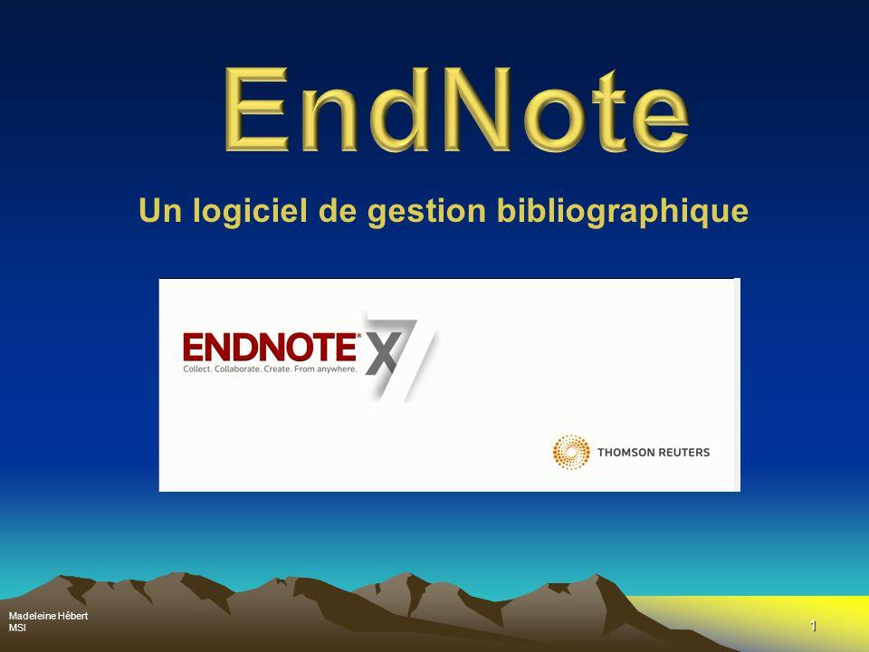 12 Structure d'EndNote Introduction