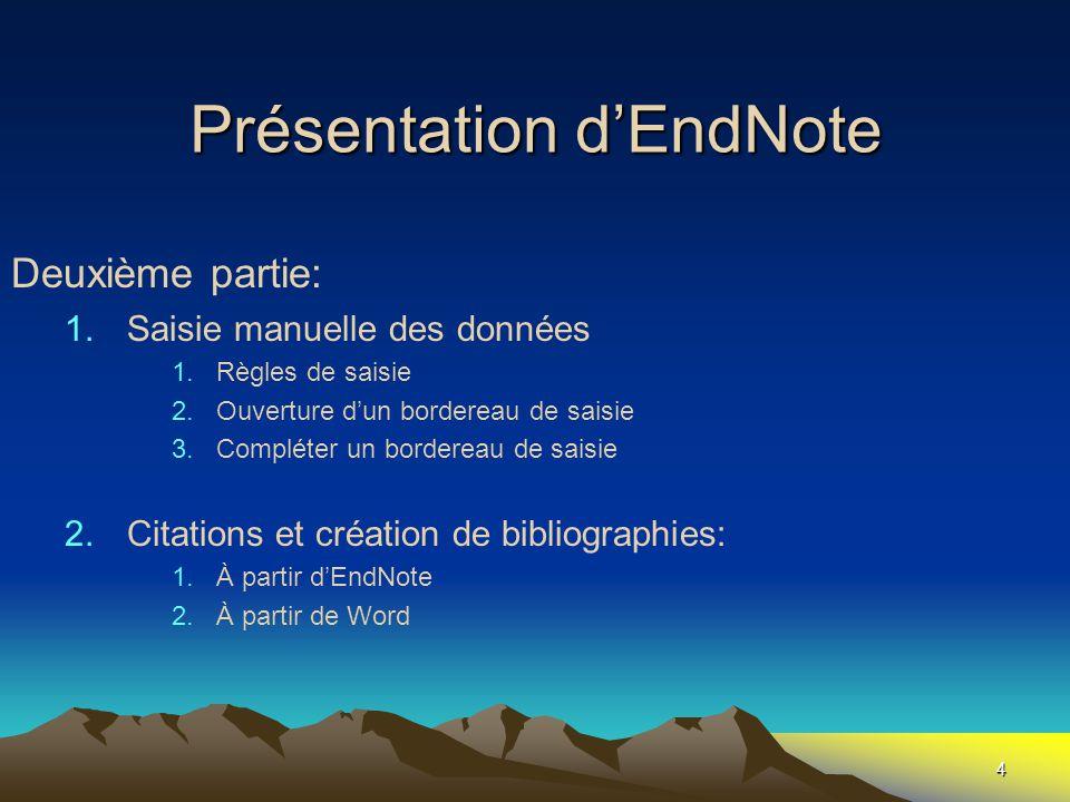 Les Groupes Insertion de références « Add references to » 55