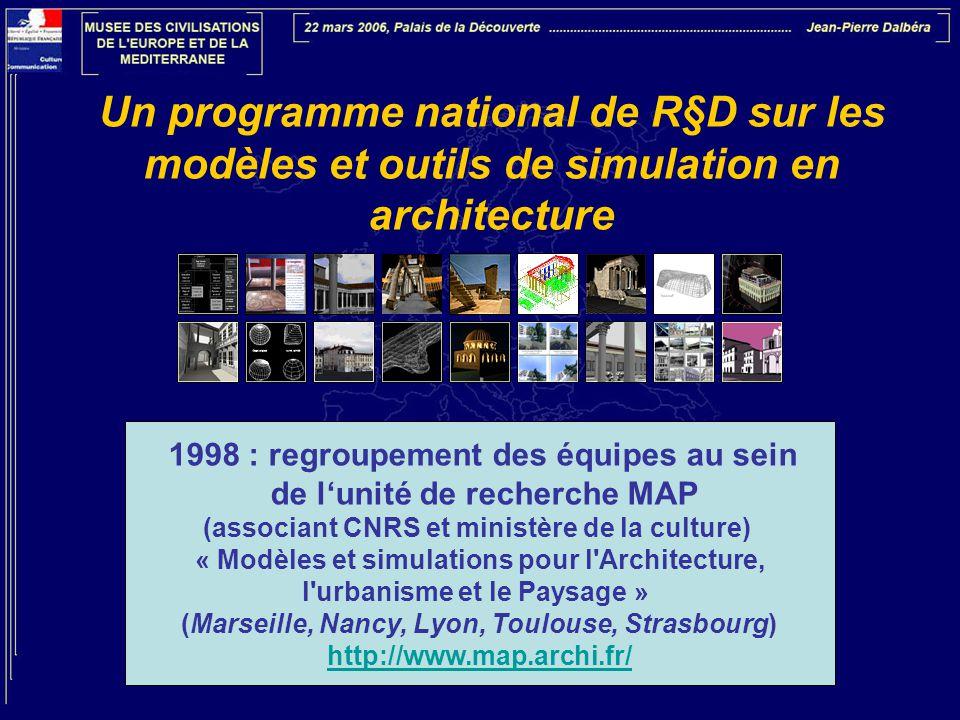 Un programme national de R§D sur les modèles et outils de simulation en architecture 1998 : regroupement des équipes au sein de l'unité de recherche M