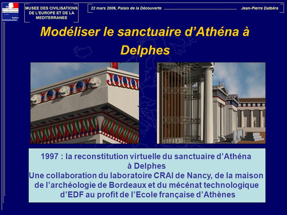 Modéliser le sanctuaire d'Athéna à Delphes 1997 : la reconstitution virtuelle du sanctuaire d'Athéna à Delphes Une collaboration du laboratoire CRAI d
