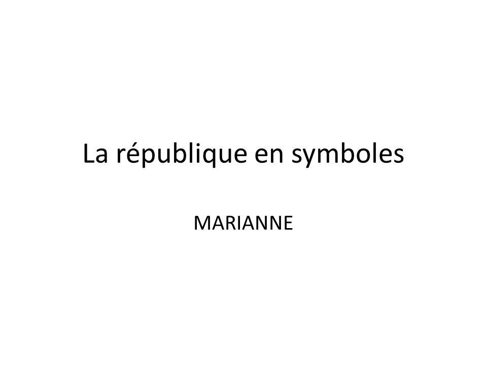 La république en symboles MARIANNE