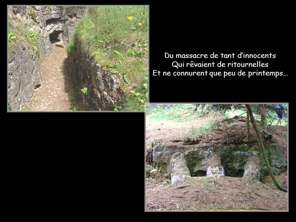 Enfin devenu un paisible lieu de repos, pour ceux qui y demeurent à jamais… Éperon fortifié français.
