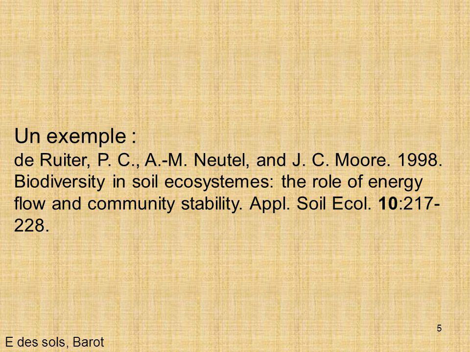 16 Décomposition E des sols, Barot