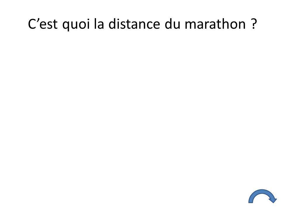C'est quoi la distance du marathon ?