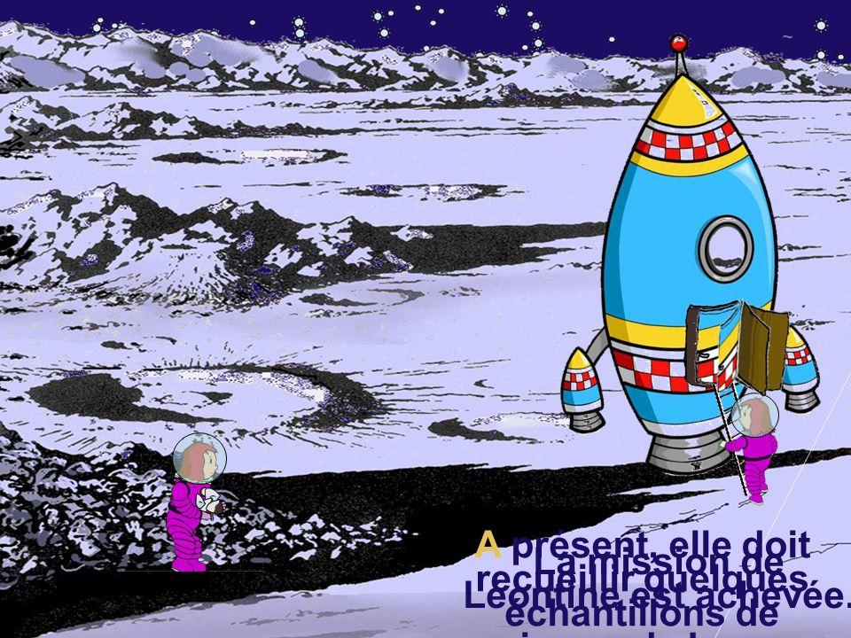 A présent, elle doit recueillir quelques échantillons de pierres de Lune.
