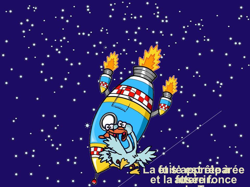 La fuite est réparée et la fusée fonce vers la Terre.