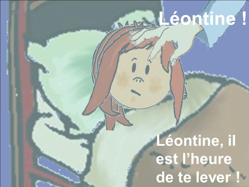 Puis tout se trouble. Alors que la main s'agrippe toujours Léontine .